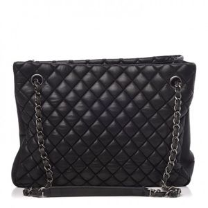 CHANEL Iridescent Calfskin New Bubble Quilt Tote